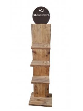 Espositore verticale in legno