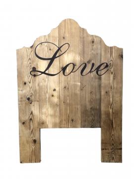 Testata letto singolo Love