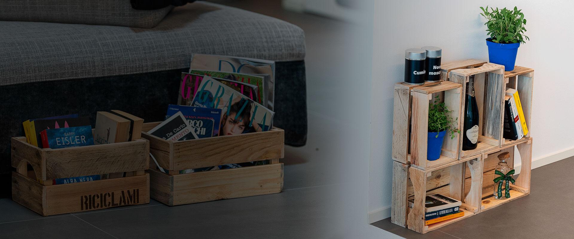 Cassette in legno dai mille utilizzi